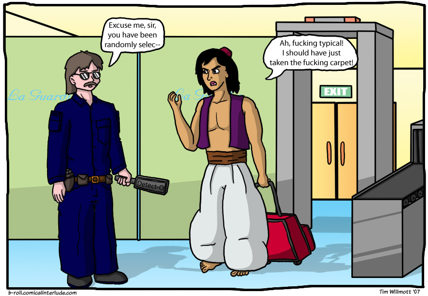 Yes, he SHOULD have taken the carpet... #tenuouscomicconcepts
